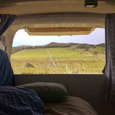 campervan vue 1 - All my january pictures, fromAuckland to golden bay