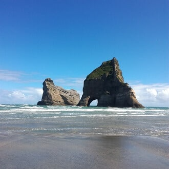 wharariki beach2 - Around the famous Golden Bay