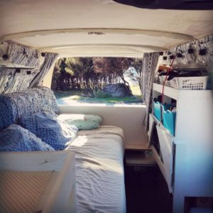 inside campervan