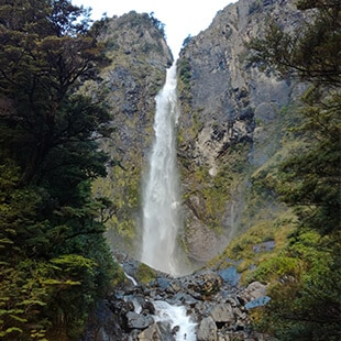 DevilsPunchbowlFalls - The west coast road in New-Zealand ( part 2 )